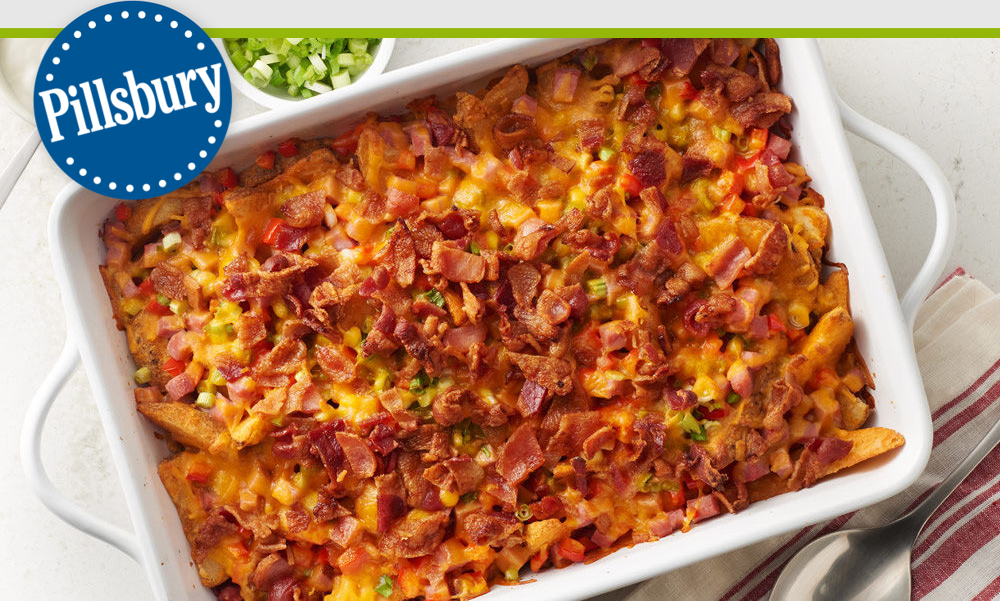 NEW Loaded Baked Potato and Ham Casserole